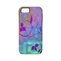 Floral Multicolor Apple iPhone 5 Classic Hardshell Case (PC+Silicone)