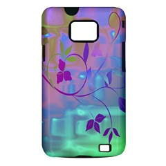 Floral Multicolor Samsung Galaxy S II Hardshell Case (PC+Silicone)