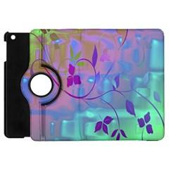 Floral Multicolor Apple Ipad Mini Flip 360 Case