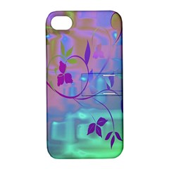 Floral Multicolor Apple iPhone 4/4S Hardshell Case with Stand