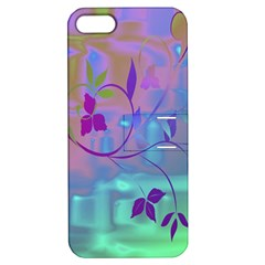 Floral Multicolor Apple Iphone 5 Hardshell Case With Stand