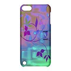 Floral Multicolor Apple iPod Touch 5 Hardshell Case with Stand