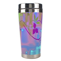 Floral Multicolor Stainless Steel Travel Tumbler