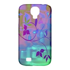 Floral Multicolor Samsung Galaxy S4 Classic Hardshell Case (PC+Silicone)