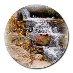 Waterfall 8  Mouse Pad (Round)