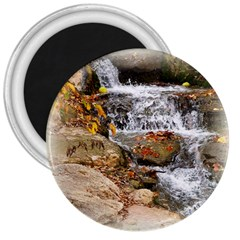 Waterfall 3  Button Magnet