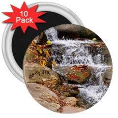 Waterfall 3  Button Magnet (10 pack)