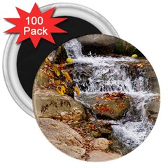 Waterfall 3  Button Magnet (100 pack)
