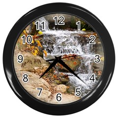 Waterfall Wall Clock (black)