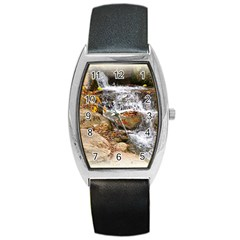 Waterfall Tonneau Leather Watch