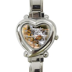 Waterfall Heart Italian Charm Watch
