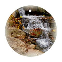 Waterfall Round Ornament (two Sides)