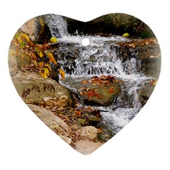 Waterfall Heart Ornament (two Sides)