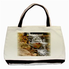 Waterfall Twin Sided Black Tote Bag