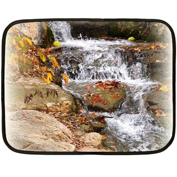 Waterfall Mini Fleece Blanket (Two Sided)