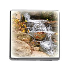 Waterfall Memory Card Reader with Storage (Square)