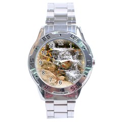 Waterfall Stainless Steel Watch
