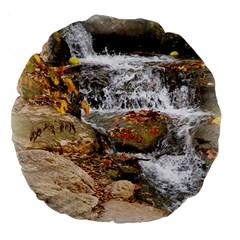 Waterfall 18  Premium Round Cushion