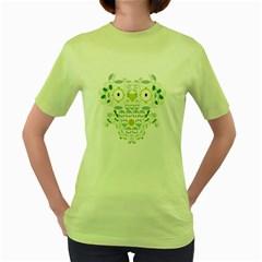 The Owling Womens  T Shirt (green)