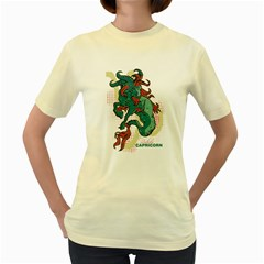 Capricorn  Womens  T-shirt (Yellow)
