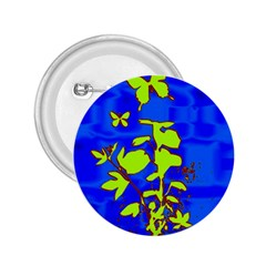 Butterfly blue/green 2.25  Button