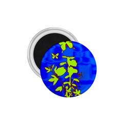 Butterfly blue/green 1.75  Button Magnet