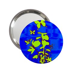 Butterfly blue/green Handbag Mirror (2.25 )