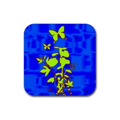Butterfly Blue/green Drink Coaster (square)