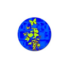 Butterfly blue/green Golf Ball Marker 10 Pack