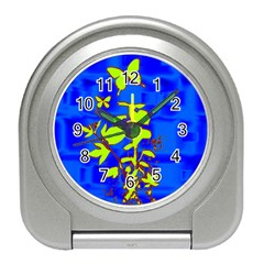 Butterfly blue/green Desk Alarm Clock