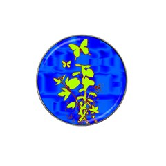 Butterfly Blue/green Golf Ball Marker 4 Pack (for Hat Clip)
