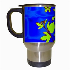 Butterfly blue/green Travel Mug (White)