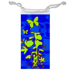 Butterfly blue/green Jewelry Bag