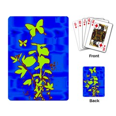 Butterfly blue/green Playing Cards Single Design