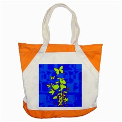 Butterfly blue/green Accent Tote Bag