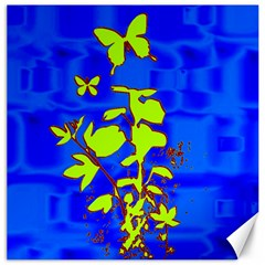 Butterfly blue/green Canvas 16  x 16  (Unframed)