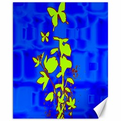Butterfly blue/green Canvas 16  x 20  (Unframed)