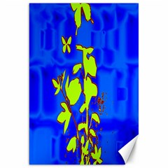 Butterfly blue/green Canvas 20  x 30  (Unframed)