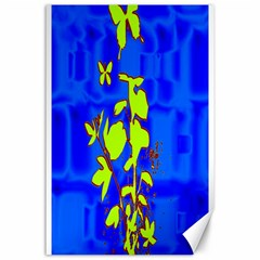 Butterfly blue/green Canvas 24  x 36  (Unframed)