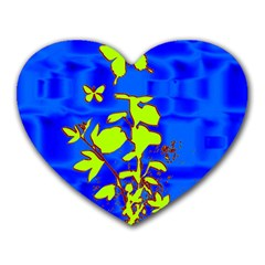 Butterfly blue/green Mouse Pad (Heart)