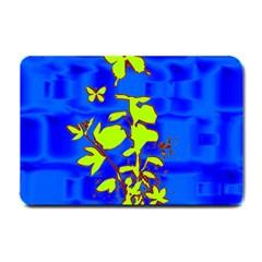 Butterfly blue/green Small Door Mat