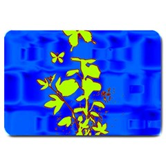 Butterfly blue/green Large Door Mat