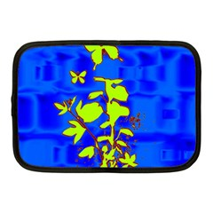 Butterfly Blue/green Netbook Sleeve (medium)