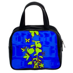 Butterfly blue/green Classic Handbag (Two Sides)