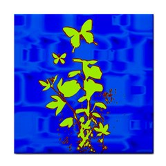 Butterfly blue/green Face Towel
