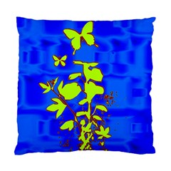 Butterfly blue/green Cushion Case (Single Sided)
