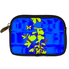 Butterfly blue/green Digital Camera Leather Case