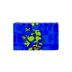Butterfly blue/green Cosmetic Bag (Small)