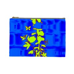 Butterfly Blue/green Cosmetic Bag (large)