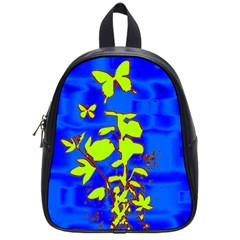 Butterfly Blue/green School Bag (small)
